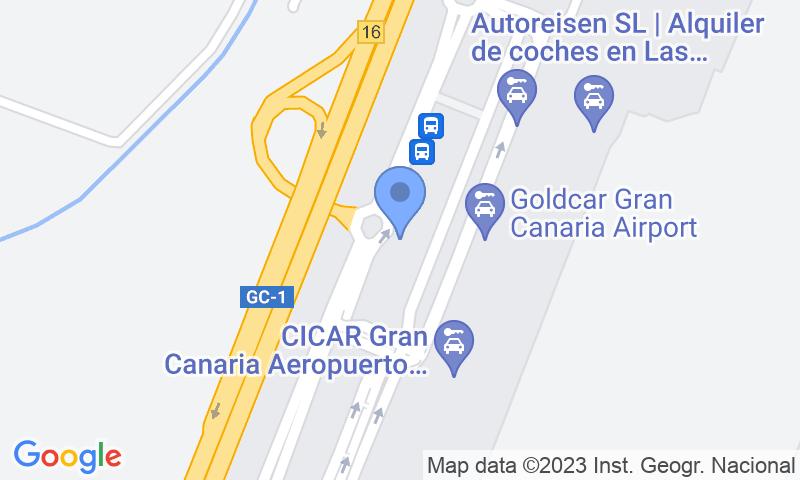 Localizzazione del parcheggio sulla mappa - Prenota un posto nel parcheggio AENA General P1 Gran Canaria