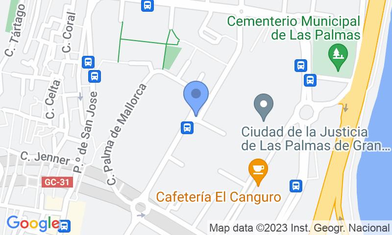 Localizzazione del parcheggio sulla mappa - Prenota un posto nel parcheggio IC - Nuevos Juzgados