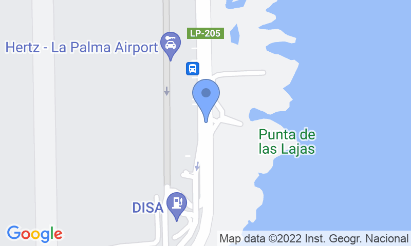 Localización del parking en el mapa - Reservar una plaza en el parking AENA General P1 Palma