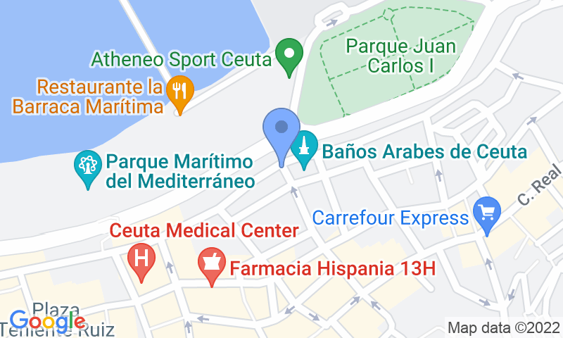 Parking location in the map - Book a parking spot in IC - La Marina car park