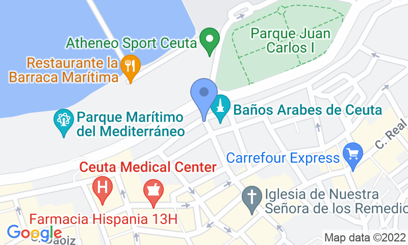 Localización del parking en el mapa - Reservar una plaza en el parking IC - La Marina