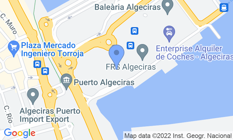 Parking location in the map - Book a parking spot in Puerto Algeciras car park