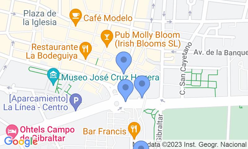 Localització del parking al mapa - Reservar una plaça al parking IC - Plaza Constitución-Frontera