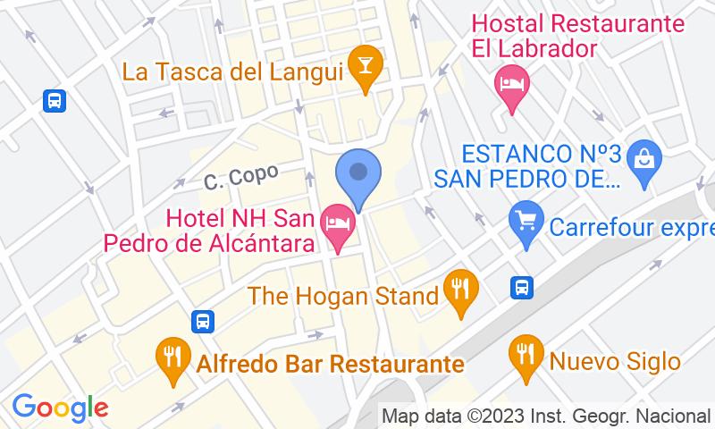 Localización del parking en el mapa - Parking San Pedro de Alcántara