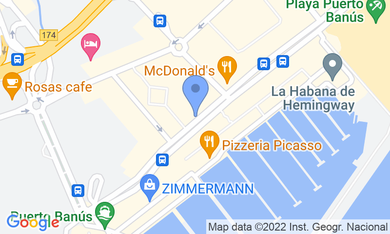 Localización del parking en el mapa - Reservar una plaza en el parking Cristamar