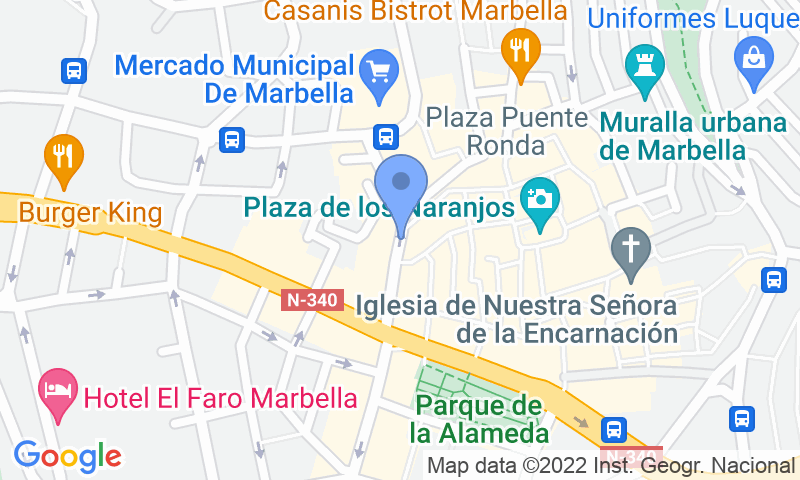 Localizzazione del parcheggio sulla mappa - Prenota un posto nel parcheggio IC - Plaza de la Victoria