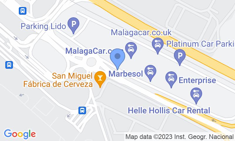 Localizzazione del parcheggio sulla mappa - Prenota un posto nel parcheggio Airport Málaga - Picasso Low Cost