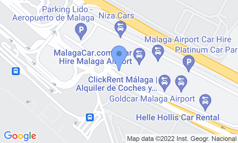 Parking location in the map - Book a parking spot in Picasso -  Aeropuerto de  Málaga car park