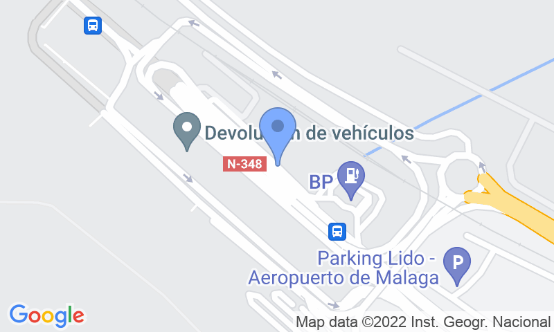 Localizzazione del parcheggio sulla mappa - Prenota un posto nel parcheggio Pedrocar - Cubierto - Aeropuerto de Málaga