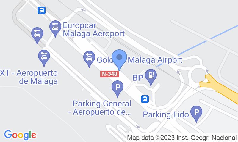 Standort des Parkplatzes auf der Karte - Buch einen Parkplatz im Pedrocar - Cubierto - Aeropuerto de Málaga Parkplatz.