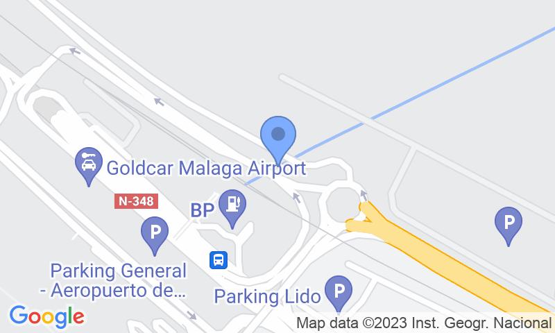 Localización del parking en el mapa - Reservar una plaza en el parking AENA General P1 Málaga