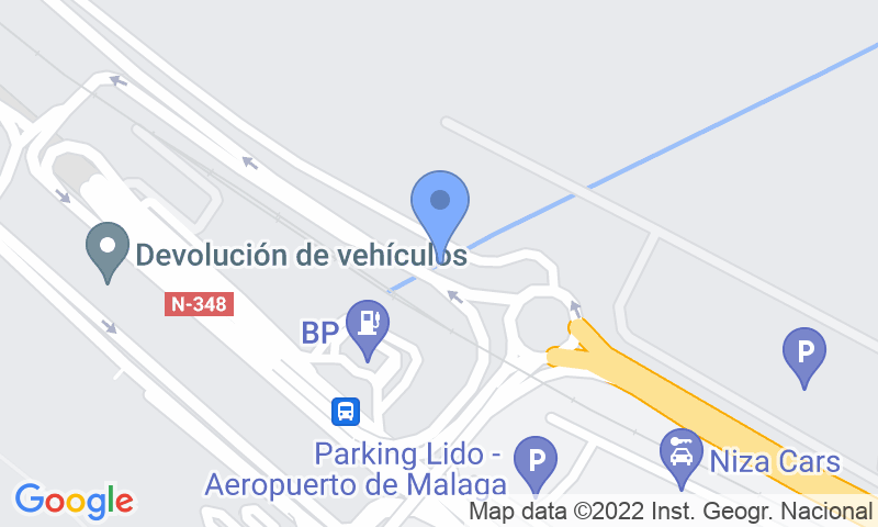 Standort des Parkplatzes auf der Karte - Buch einen Parkplatz im AENA General P1 Málaga Parkplatz.