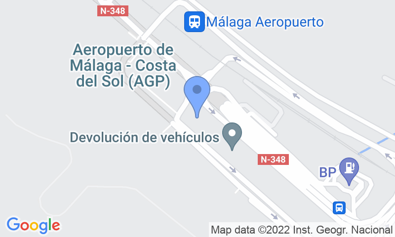 Parking location in the map - Book a parking spot in Málaga Airport Parking - Valet Cubierto car park