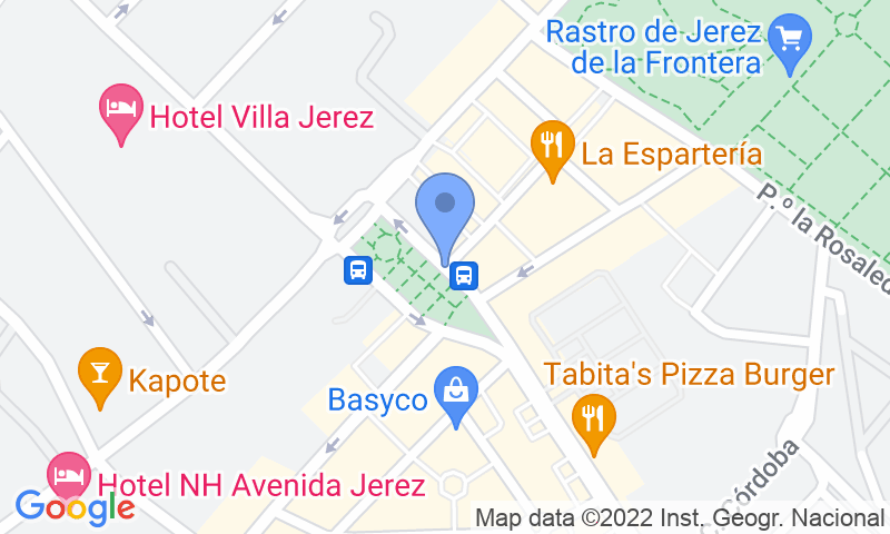 Parking location in the map - Book a parking spot in APK2 Plaza del Caballo car park