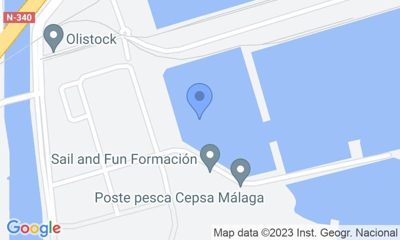 Расположение парковки на карте - Забронируйте паркоместо на стоянке Pedrocar - Cubierto VIP - Puerto de Málaga