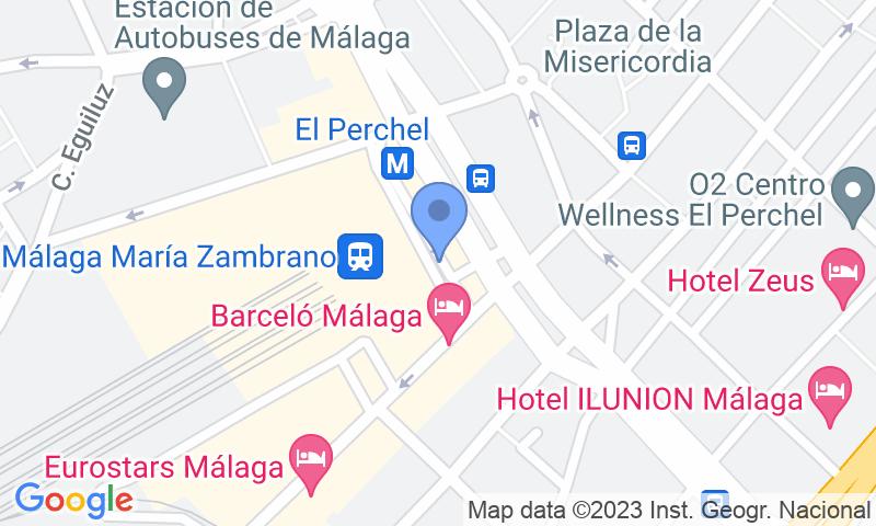 Lugar de estacionamento no mapa - Reserve uma vaga de  estacionamento no SABA ADIF Estación Málaga Renfe