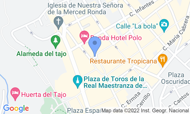 Parking location in the map - Book a parking spot in APK2 Plaza del Socorro car park