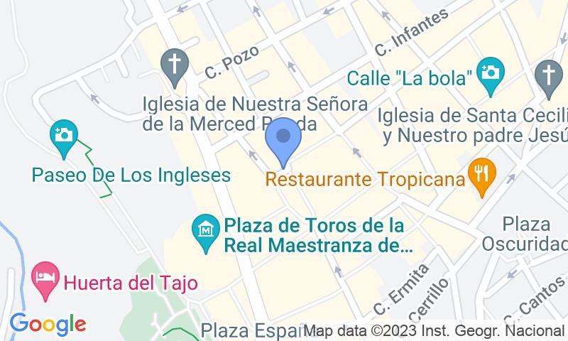 Localizzazione del parcheggio sulla mappa - Prenota un posto nel parcheggio APK2 Plaza del Socorro