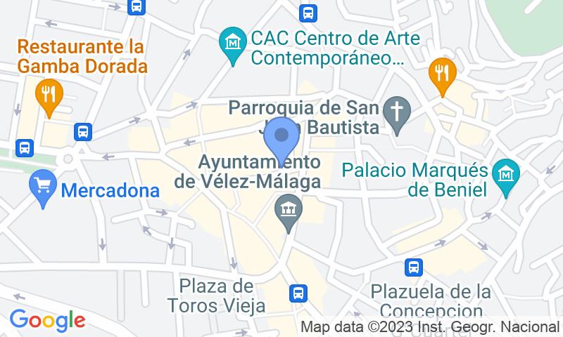 Localización del parking en el mapa - Reservar una plaza en el parking Plaza del Carmen