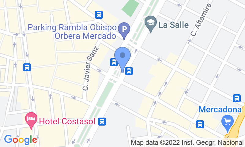 Standort des Parkplatzes auf der Karte - Buch einen Parkplatz im APK2 La Rambla II Parkplatz.