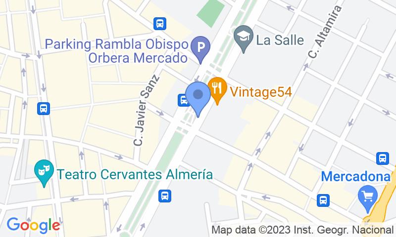 Parking location in the map - Book a parking spot in APK2 La Rambla II car park
