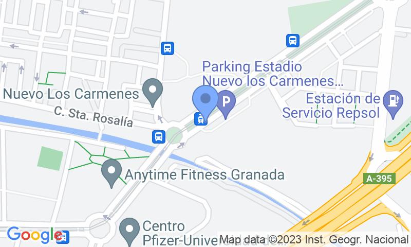 Localització del parking al mapa - Parking Nuevo los Cármenes - Zaidín