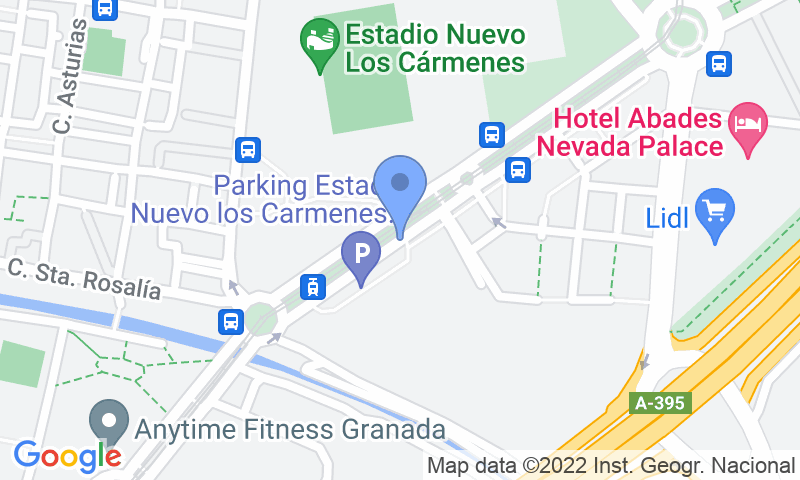 Localizzazione del parcheggio sulla mappa - Parking Autocaravanas Granada