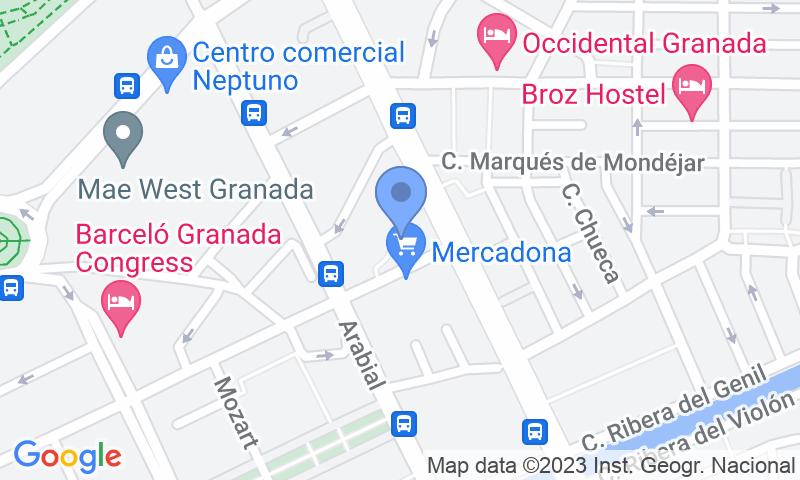 Localizzazione del parcheggio sulla mappa - Prenota un posto nel parcheggio Centro - Ronda