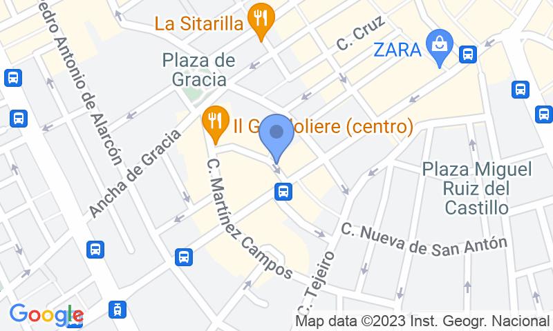 Localització del parking al mapa - Parking Palacio de los Patos - Hotel Hospes