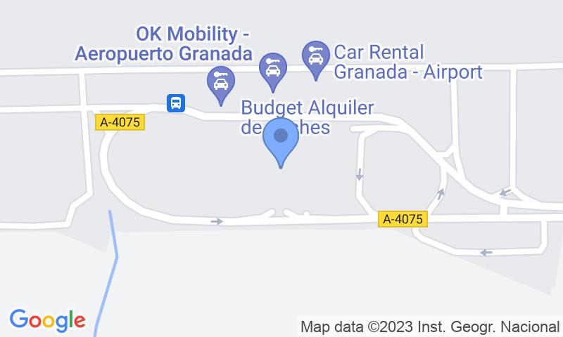Localizzazione del parcheggio sulla mappa - Prenota un posto nel parcheggio AENA General P1 Granada