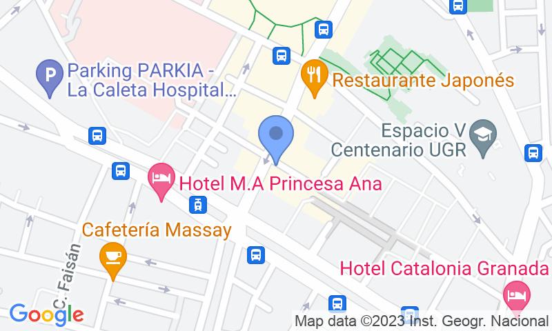 Localització del parking al mapa - Reservar una plaça al parking San Lázaro