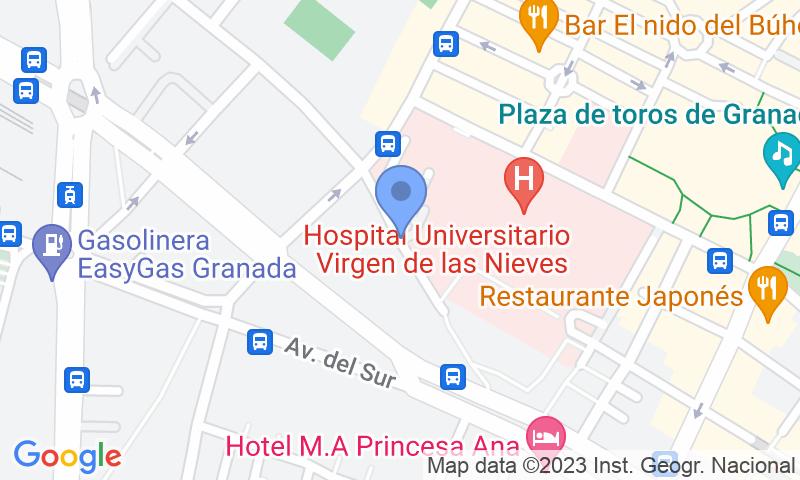 Localización del parking en el mapa - Reservar una plaza en el parking IC - Hospital Virgen de las Nieves