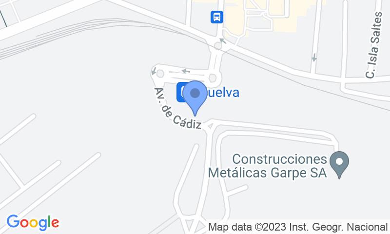 Localizzazione del parcheggio sulla mappa - Prenota un posto nel parcheggio Estación Huelva