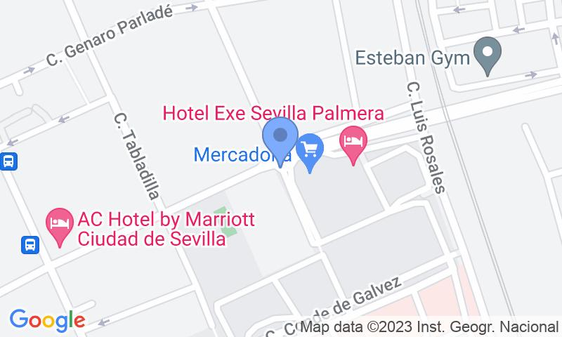 Localizzazione del parcheggio sulla mappa - Prenota un posto nel parcheggio Rosa Amarilla - Hospital Virgen del Rocío