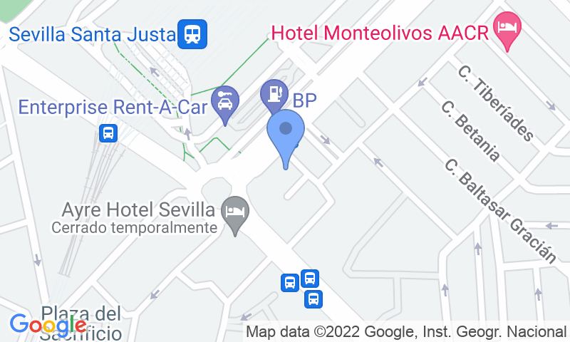 Parkeerlocatie op de kaart - Reserveer een parkeerplek in parkeergarage INSUR Mirador de Santa Justa