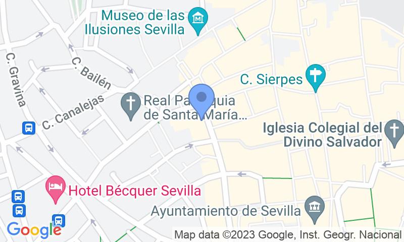 Localizzazione del parcheggio sulla mappa - Prenota un posto nel parcheggio APK2 Aparcamiento Magdalena