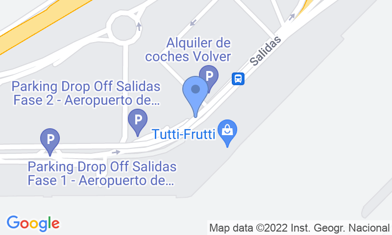 Emplacement du parking sur la carte - Réservez une place dans le parking AENA General P1 Sevilla