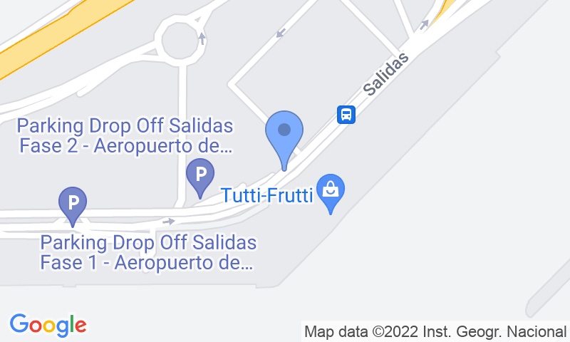 Localización del parking en el mapa - Reservar una plaza en el parking AENA General P1 Sevilla