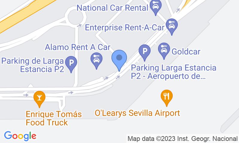 Localizzazione del parcheggio sulla mappa - Prenota un posto nel parcheggio AENA General P1 Sevilla