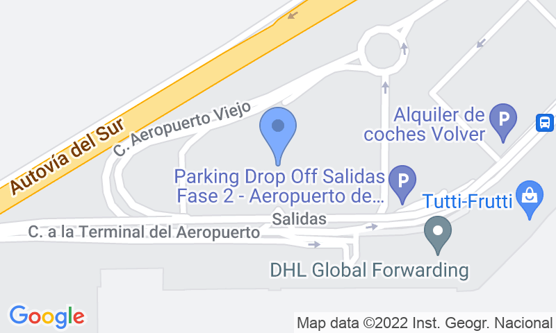 Parking location in the map - Book a parking spot in AENA Larga Estancia P2 Sevilla car park