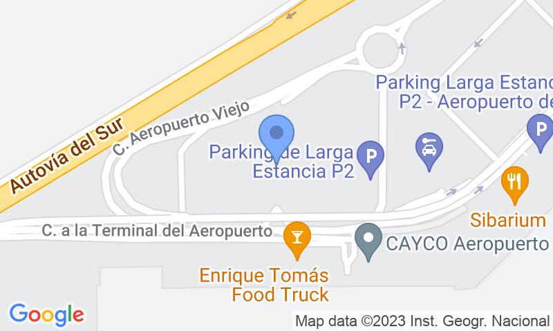 Localización del parking en el mapa - Reservar una plaza en el parking AENA Larga Estancia P2 Sevilla