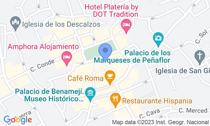 Localización del parking en el mapa - Reservar una plaza en el parking IC - Plaza España - Parking El Salón