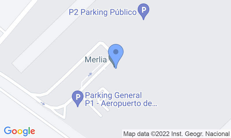 Localización del parking en el mapa - Reservar una plaza en el parking Park and Fly-valet- Murcia