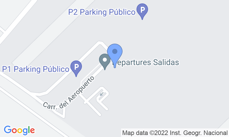 Parking location in the map - Book a parking spot in Park and Fly-valet- Murcia car park