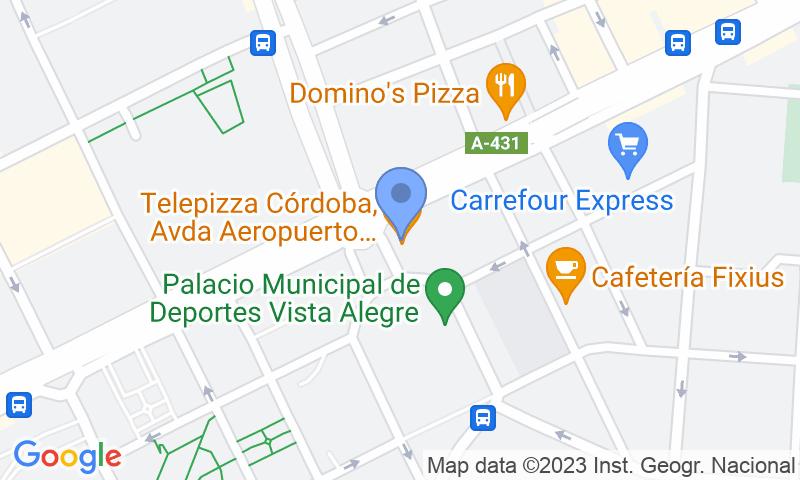 Localizzazione del parcheggio sulla mappa - Prenota un posto nel parcheggio Avda. Aeropuerto