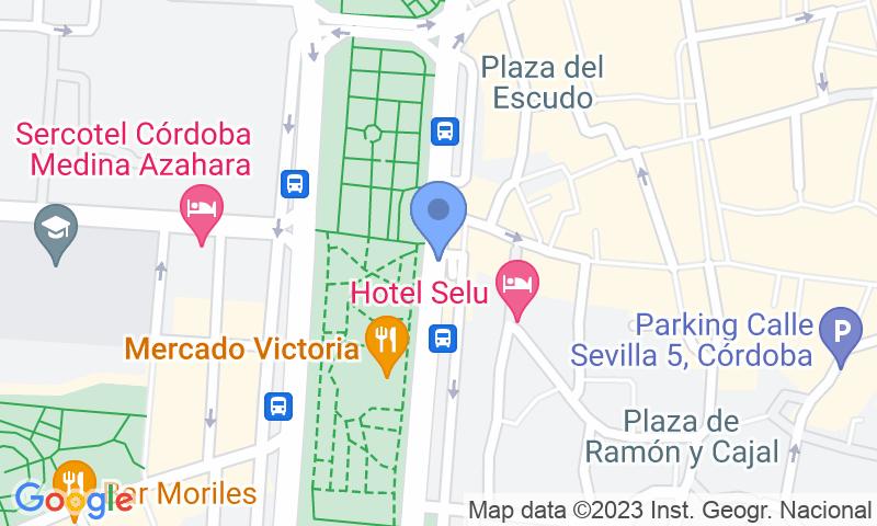 Localización del parking en el mapa - Reservar una plaza en el parking Paseo de la Victoria