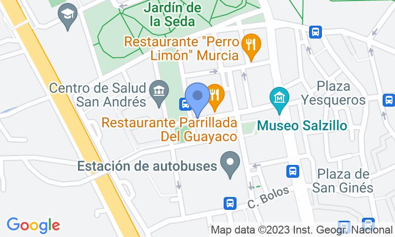 Lugar de estacionamento no mapa - Reserve uma vaga de  estacionamento no San Andrés - Museo Salzillo