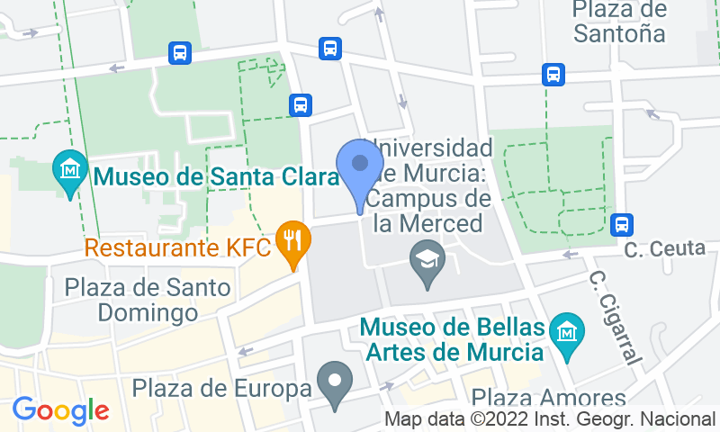 Расположение парковки на карте - Забронируйте паркоместо на стоянке APK2 Universidad de Murcia