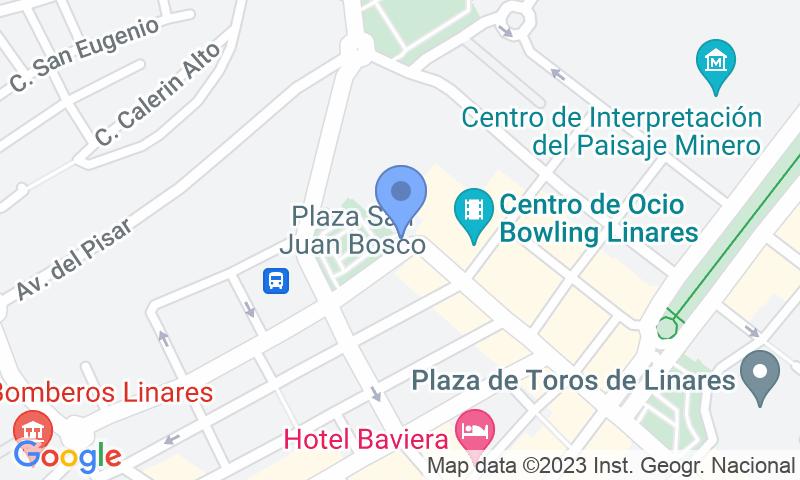 Localización del parking en el mapa - Reservar una plaza en el parking Plaza San Juan Bosco
