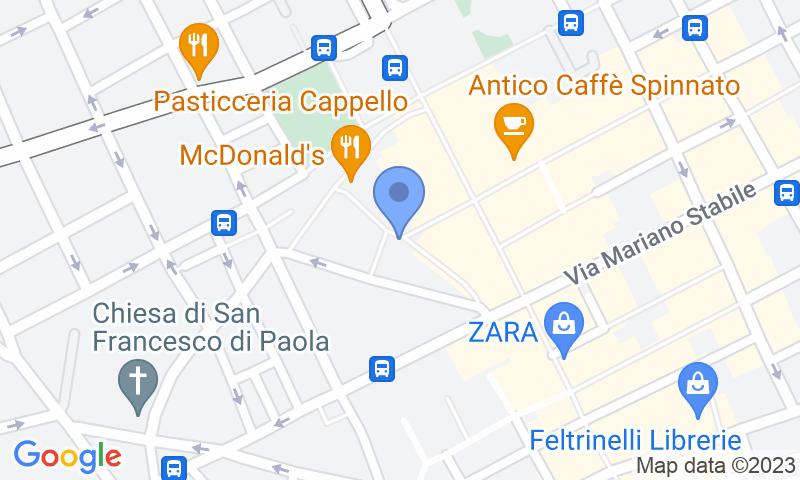 Standort des Parkplatzes auf der Karte - Buch einen Parkplatz im AC Guccia Parkplatz.
